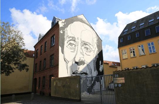 安徒生博物馆的涂鸦墙