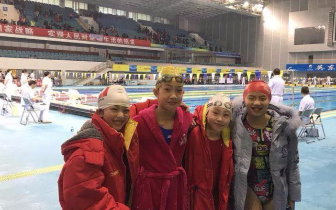 宜昌游泳小将2018年全国少儿游泳冠军赛争金夺银