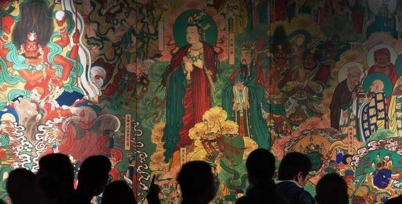石家庄画家十年复原的毗卢寺壁画亮相