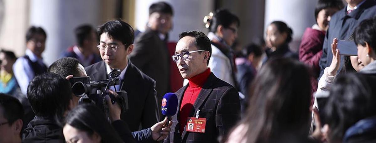 巩汉林委员接受采访