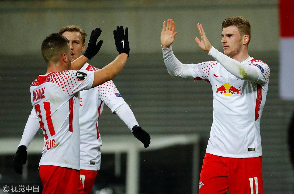 欧联-科斯塔破门马竞3-0胜 维尔纳传射莱比锡2-1
