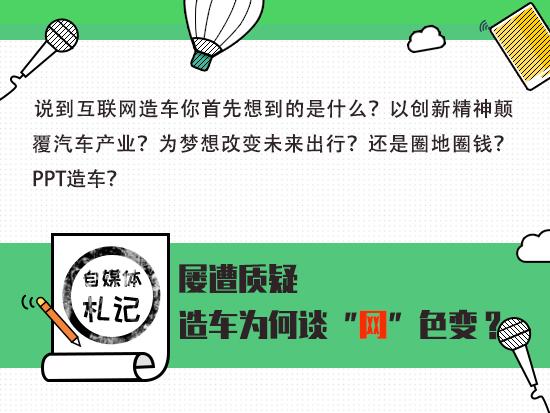 """自媒体札记:屡遭质疑 造车为何谈""""网""""色变?"""
