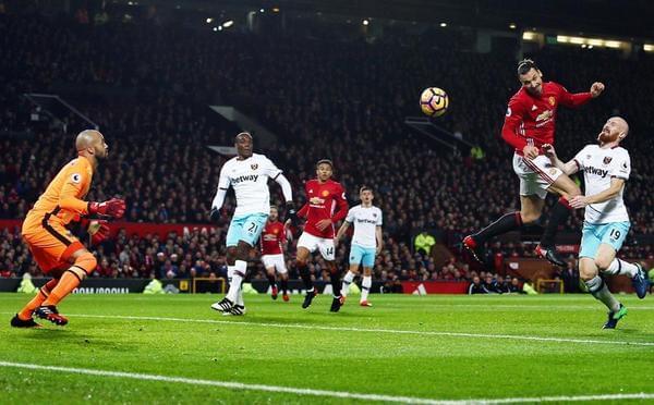 伊布扳平穆帅被罚 曼联主场1-1差欧冠区8分