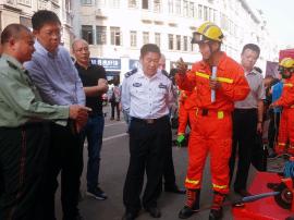 消防代言人亮相中山路 119消防宣传月正式启动!