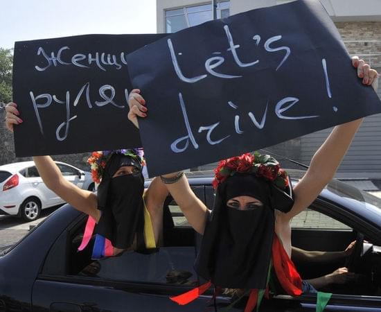沙特女性参加抗议活动
