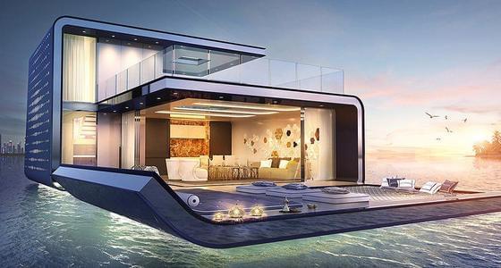 迪拜水上漂浮别墅走红 售价超2千万