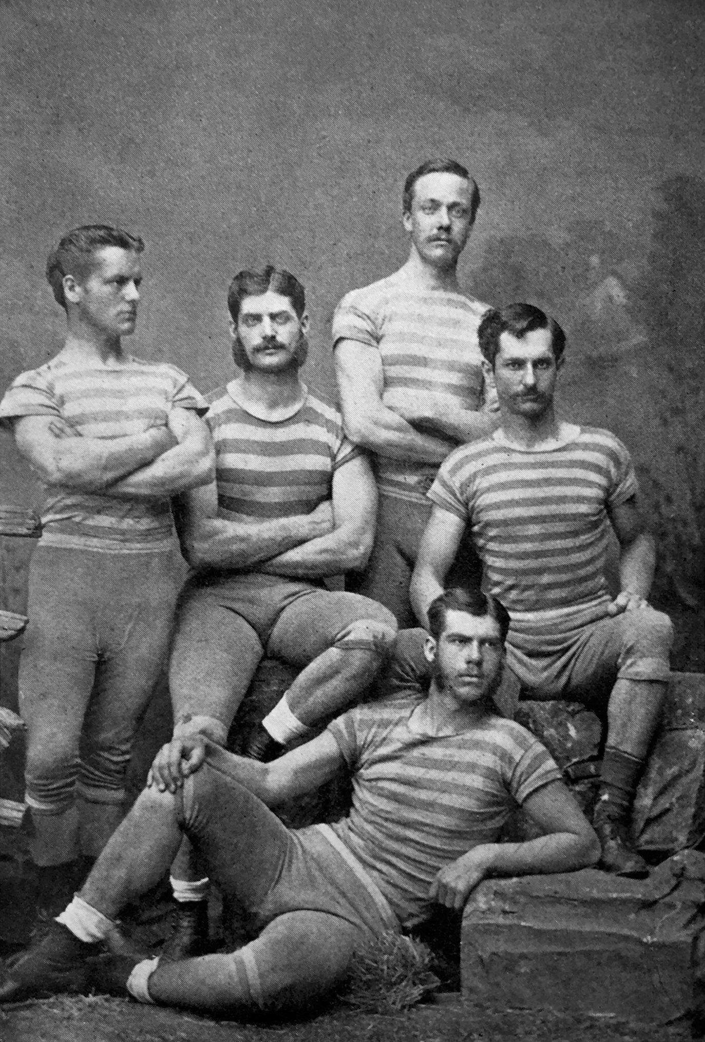 大约1878年,哥伦比亚大学皮划艇运动员