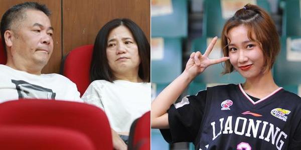 刘铮父母看台观战 美女球迷抢镜总决赛