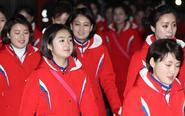 朝鲜美女啦啦队统一着装
