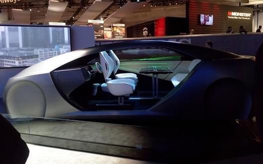 """前座""""向后看"""" 松下发布自动驾驶概念车"""