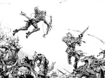 知名画家金政基联手暴雪创作魔兽8.0主题画作