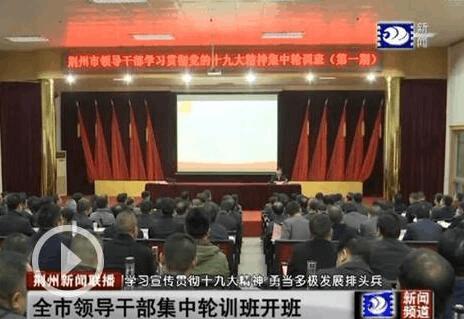 杨智:深入学习宣传贯彻十九大精神 勠力同心振兴荆州