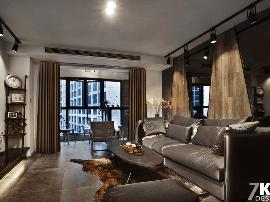 酒店式公寓炫酷黑白灰设计 同进理