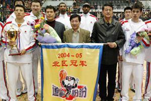 2004-2005赛季,蒋兴权率领辽篮夺得北区冠军