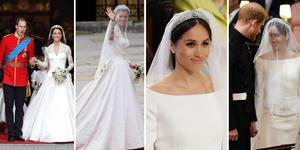 英国皇室婚礼 梅根与凯特婚纱对比 谁更美?