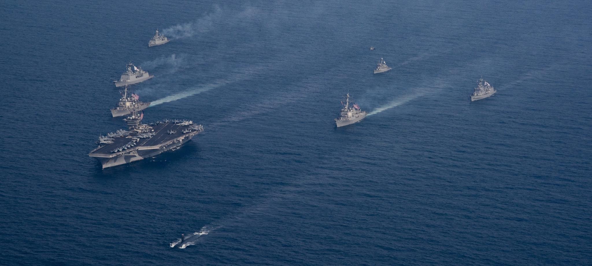 乌龙!美军否认3艘航母下周就能集结朝鲜半岛