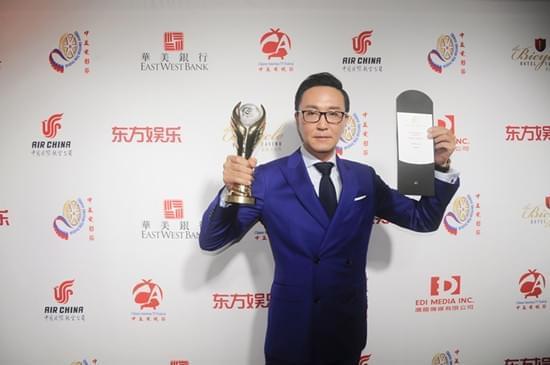 吴刚岳秀清出席中美电影电视节 双双领奖