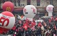 法国公务员和铁路工人罢工