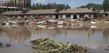 吉林永吉全境遭大暴雨袭击 再次被淹