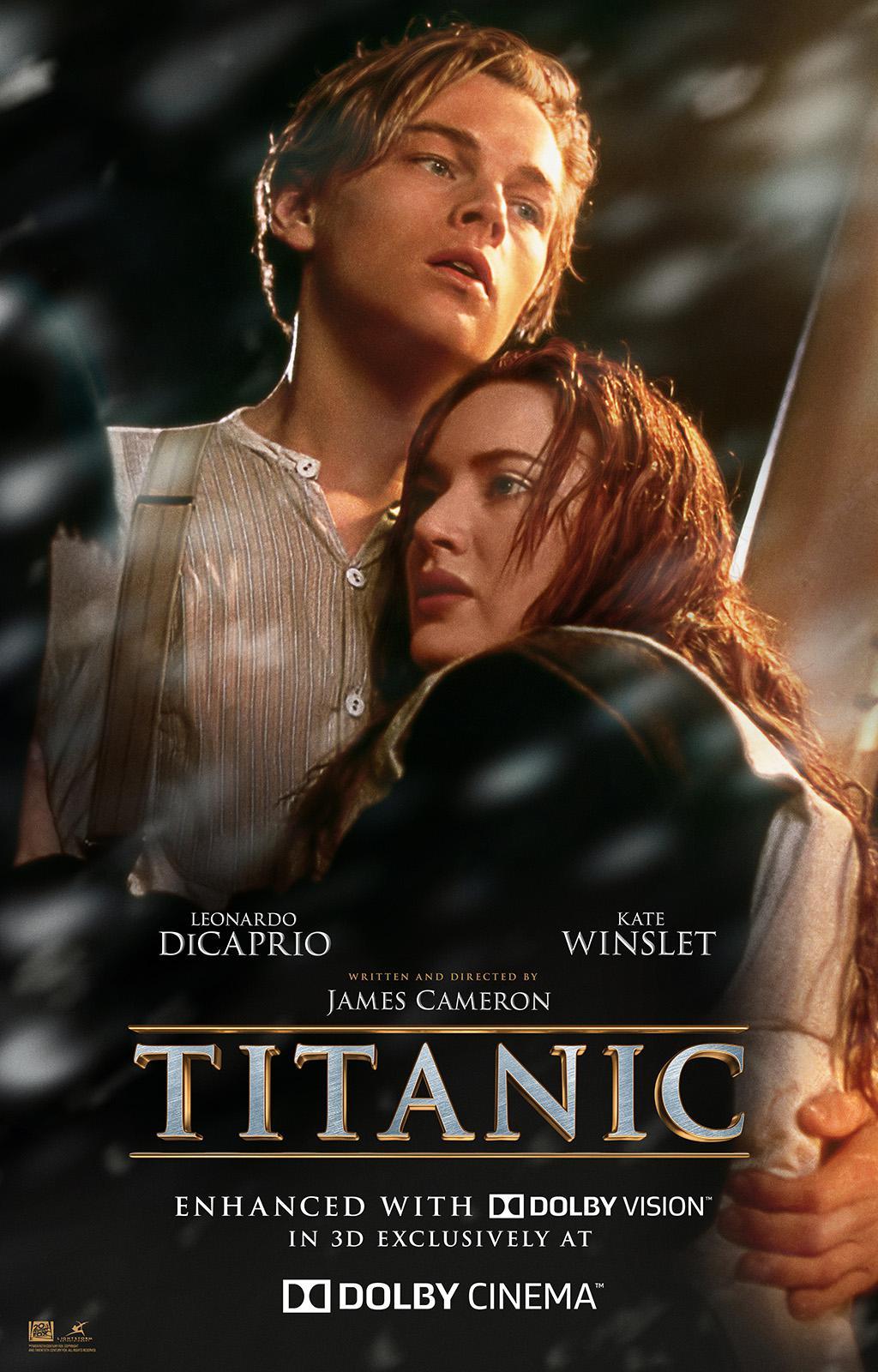 《泰坦尼克号》杜比视界3D版海报