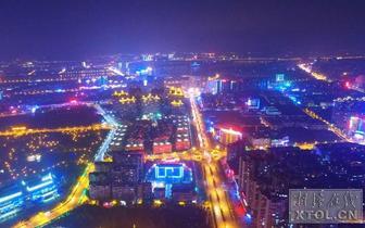 湘潭夜景流光溢彩!你见过湘潭夜晚的航拍吗?[图集]