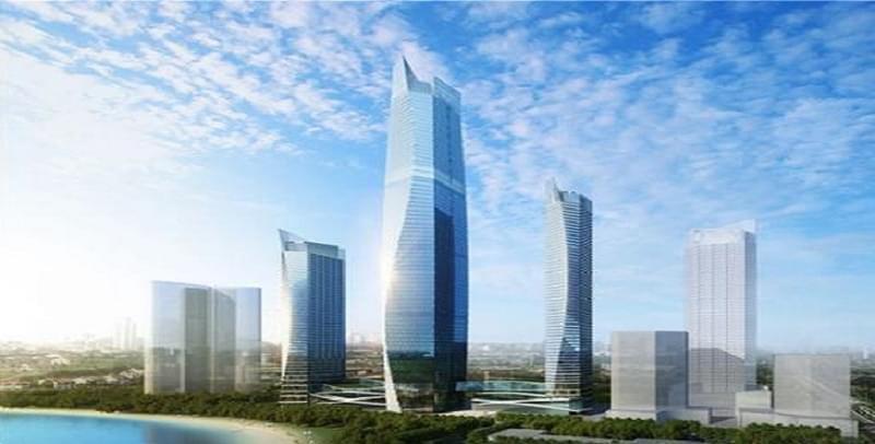 """369米""""青岛第一高楼""""长这样 主体明年底封顶"""