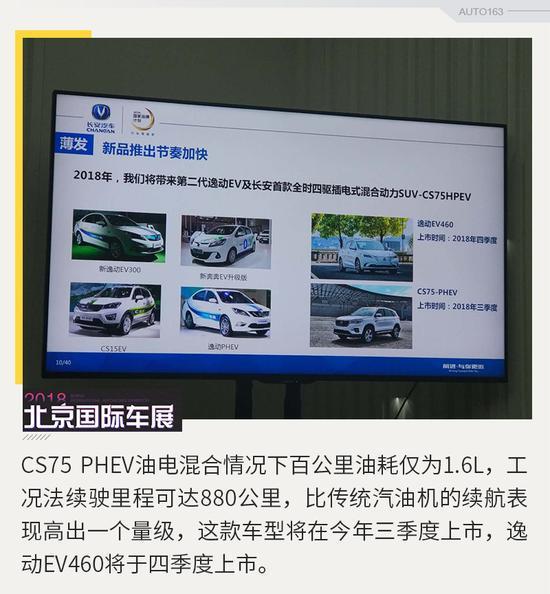 插混版CS75将上市 长安七年内停售汽油车