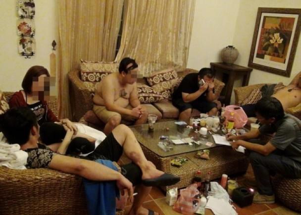 台湾富二代男子包房开毒品派对被抓捕
