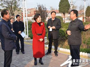 运城市政协副主席张东婷调研城乡环境整治工作