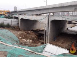梁园区新建路地下道暂时只能开放东侧通道
