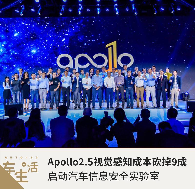 Apollo2.5视觉感知成本砍掉9成 启动安全实验室