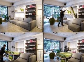 超炫酷翻转家具 不用改户型就能增加30平米空间