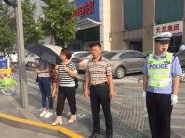 """太原:""""行人等待区""""亮相迎泽大街"""