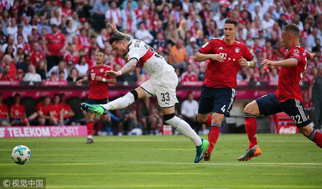 德甲-托利索破门莱万屡失良机 拜仁1-4斯图加特