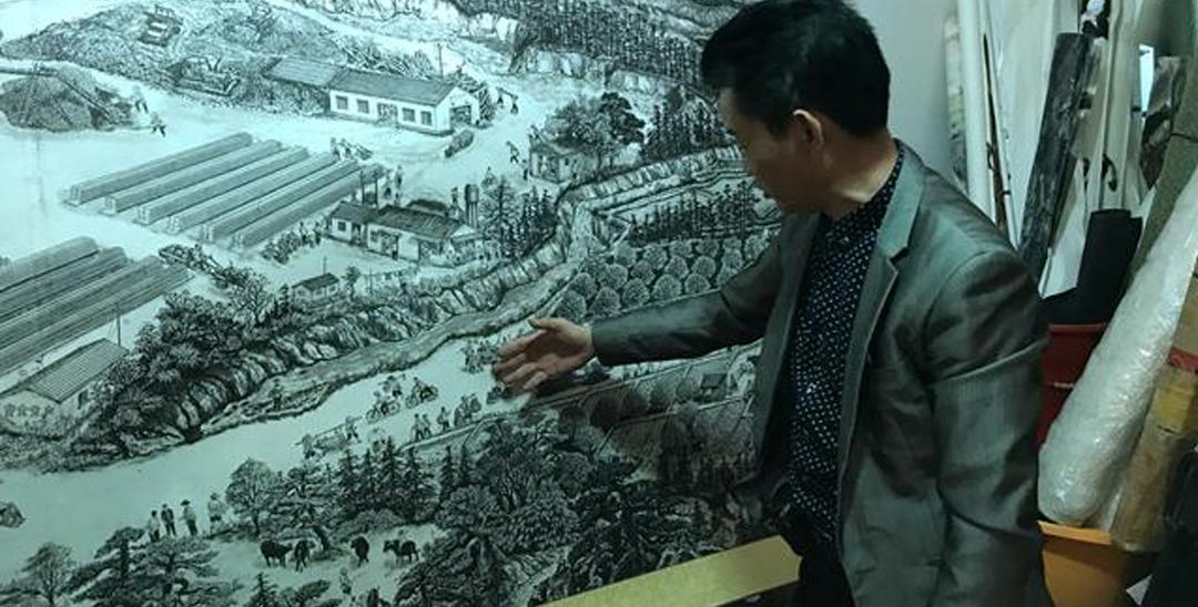 平湖民间达人每天创作22个小时只为一幅画