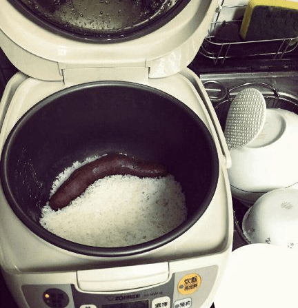 打开电饭锅我不饿了