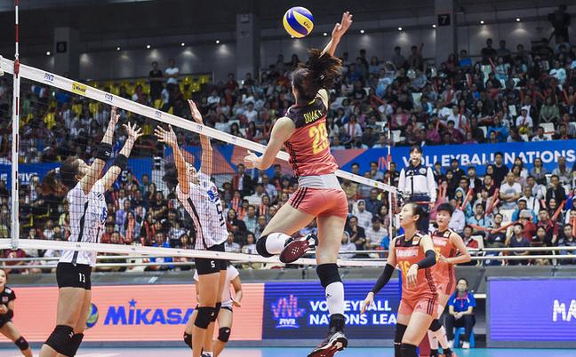 世联赛-中国女排3-1艰难胜泰国