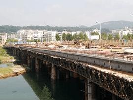 罗田县巴源大桥国庆节顺利通车