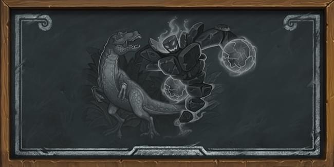 《炉石传说》本周乱斗:环形山之战 元素大战恐龙