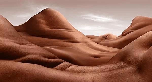 裸体沙漠:摄影师将人体变成风景画