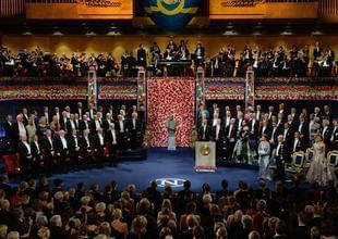 诺贝尔奖颁奖仪式举行 文学奖得主缺席