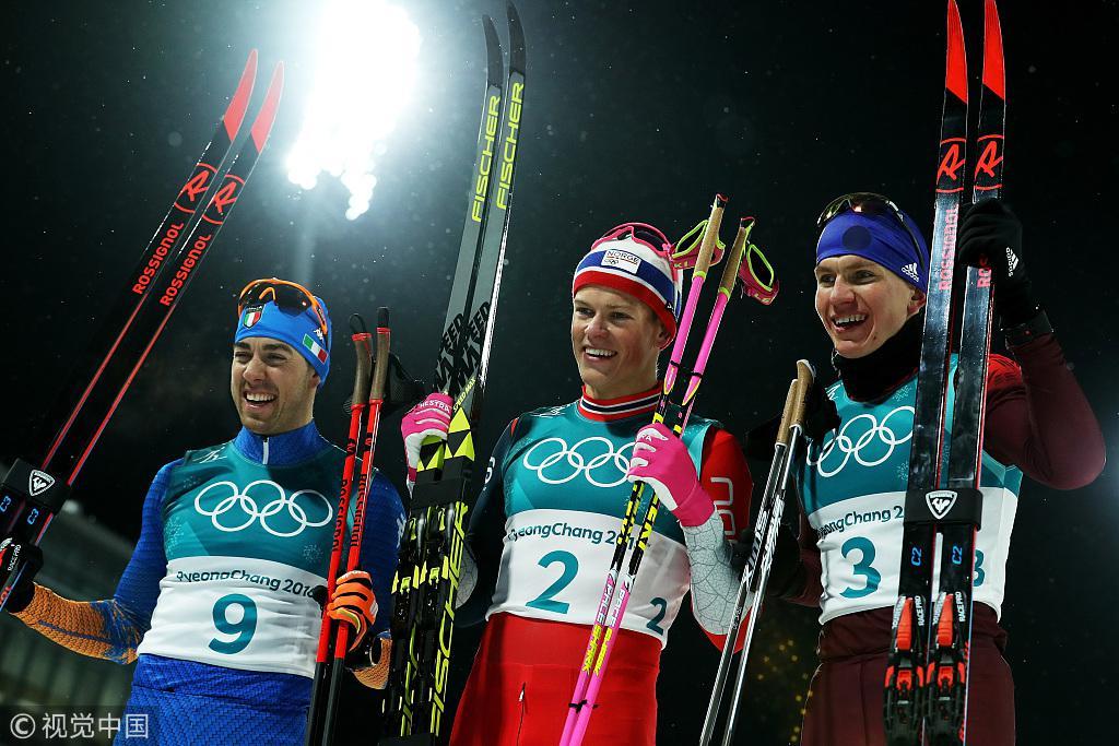 越野滑雪男子个人短距离决赛 挪威选手强势夺冠