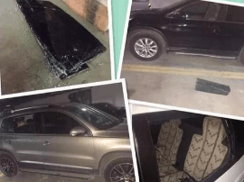 福州一小区地下车库两晚24部车被撬 监控无记录