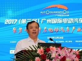 2017上海车展:贸促会汽车分会会长王侠 电动化将颠覆汽车产业