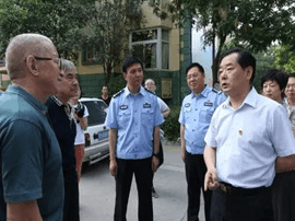 运城市委常委政法委书记邓雁平调研盐湖护城河工程