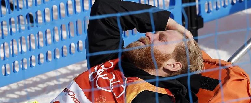 疼到怀疑人生 冬奥滑雪选手受伤后表情痛苦