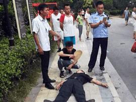 南昌3名中环地产员工强入小区 保安被打伤缝7针