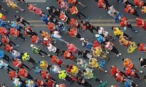 日本一半马赛事197人跑进66分 中国近2年仅2人