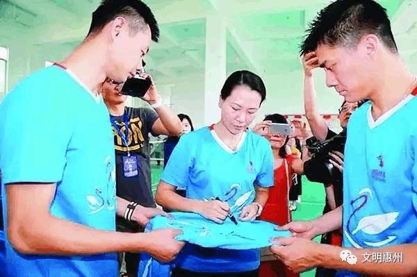 奥运健儿惠州挥拍做公益 传承助人为乐精神