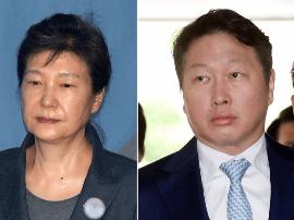 韩SK集团会长当堂对质朴槿惠 证实其向企业索贿